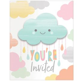 8 Invitaciones Nubes