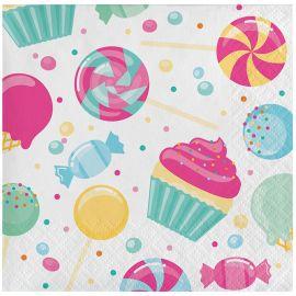 16 Servilletas Candy 25 cm