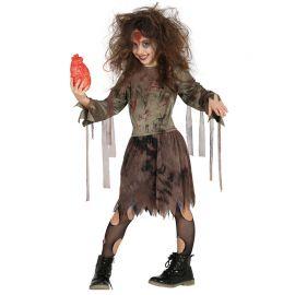Disfraz de Zombie Niña Desgarradora