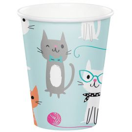 8 Vasos Gatitos 266 ml