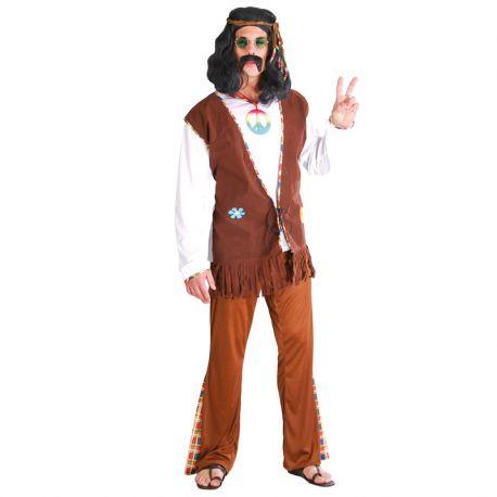 Disfraz de Hippie Flower Hombre Bohemio