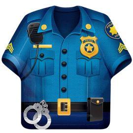 8 Platos Policia con Forma 23 cm