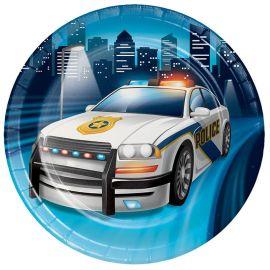 8 Platos Policia 18 cm