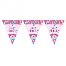 Banderin Princesa Happy Birthday