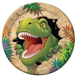8 Platos de Dinosaurios 23 cm
