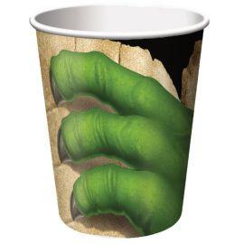 8 Vasos Dinosaurios 266 ml