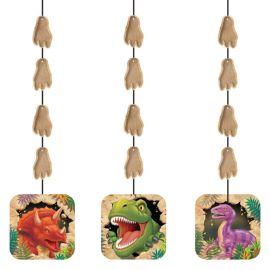 3 Pendentifs Dinosaures 91 cm