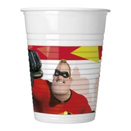 8 Vasos Los Increibles 200 ml