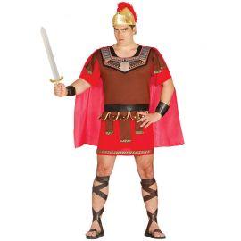 Disfraz de Centurión para Hombre con Capa Roja