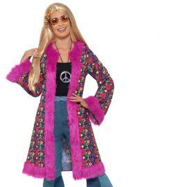 Abrigo Hippie para Mujer con Pelo Rosa