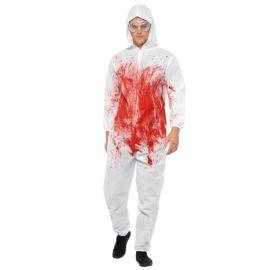 Disfraz de Forense Sangriento para Hombre con Mono