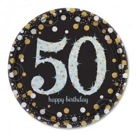 8 Platos 50 años Elegant 23 cm