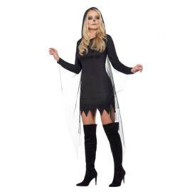 Disfraz de Segadora Esqueleto para Mujer Negro