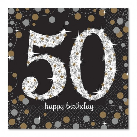 Servilletas 50 a os elegant 33 cm - Ideas para celebrar un 50 cumpleanos ...