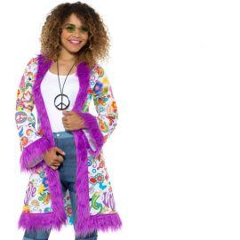 Abrigo Estilo Hippie para Mujer Paz y Amor