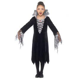 Disfraz de Vampiresa para Niña con Telarañas