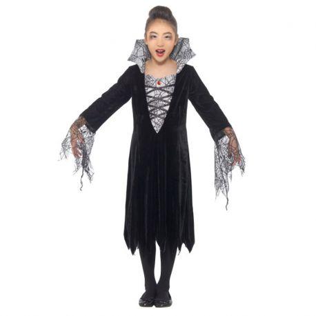 2e699642c Disfraz de Vampiresa con Telaranas para Niña