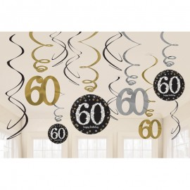 12 Colgantes 60 años Elegant