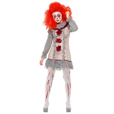 Disfraz de Payaso Sangriento para Mujer