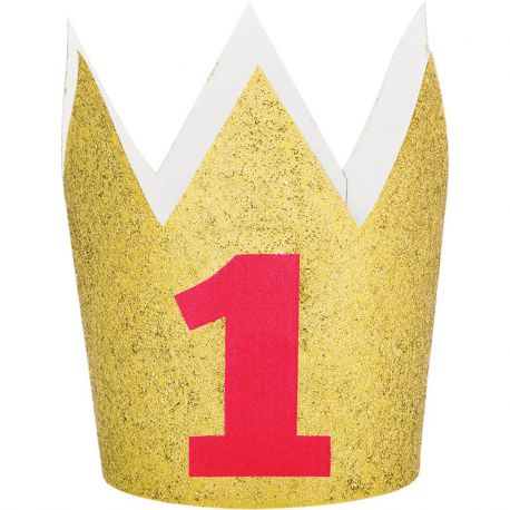 Corona nº 1 Glitter oro