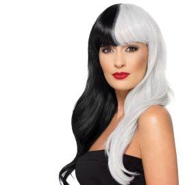 Peluca Blanca y Negra Deluxe
