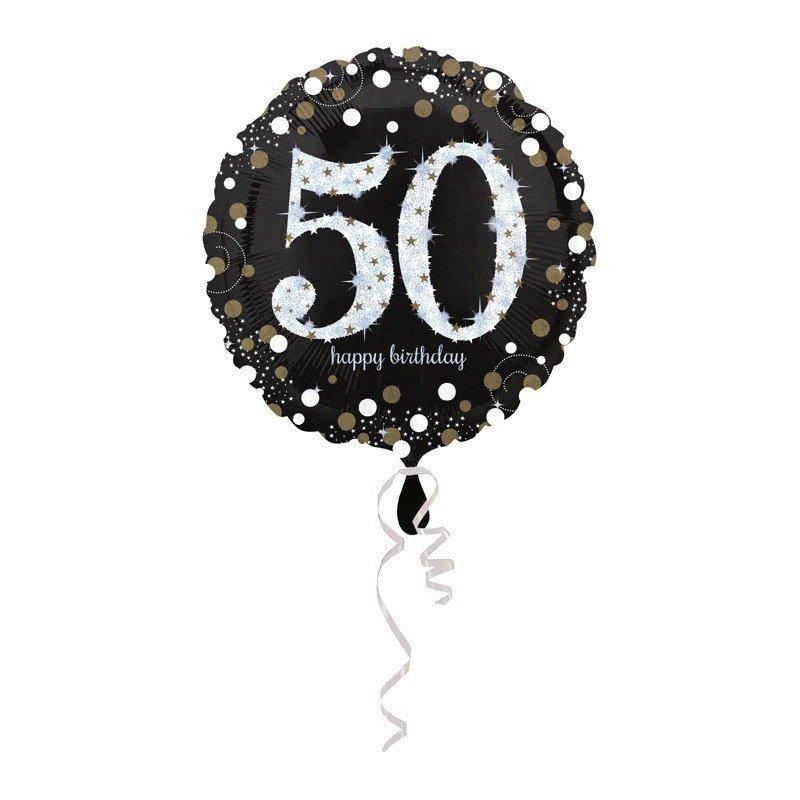 Globo foil 50 a os elegant 43 cm - Globos 50 anos ...