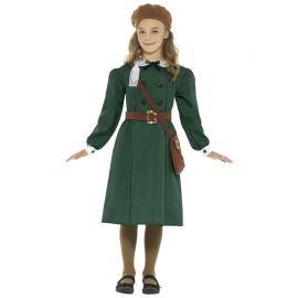 Disfraz de Refugiada Segunda Guerra Mundial para Niña
