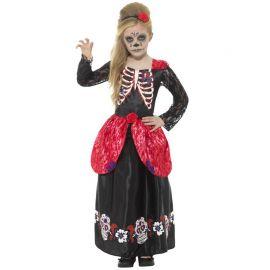 Disfraz del Día de los Muertos Deluxe para Niña
