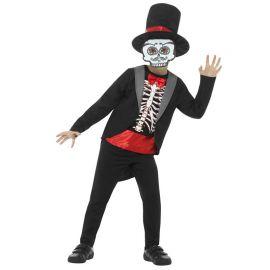 Disfraz del Día de los Muertos con Máscara para Niño