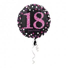 Globo Foil 18 años Elegant Pink 43 cm