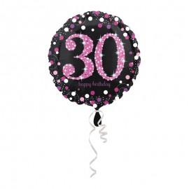 Globo Foil 30 años Elegant Pink 43 cm