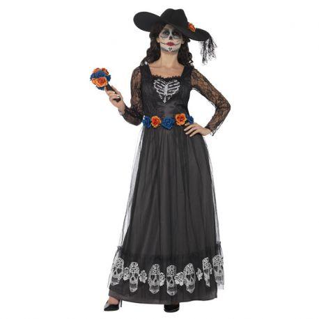 Disfraz de Esqueleto de Novia para el Día de los Muertos