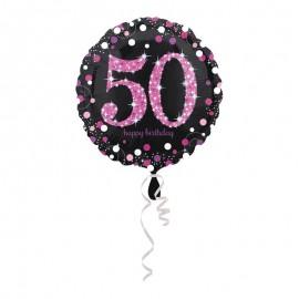 Globo Foil 50 años Elegant Pink 43 cm