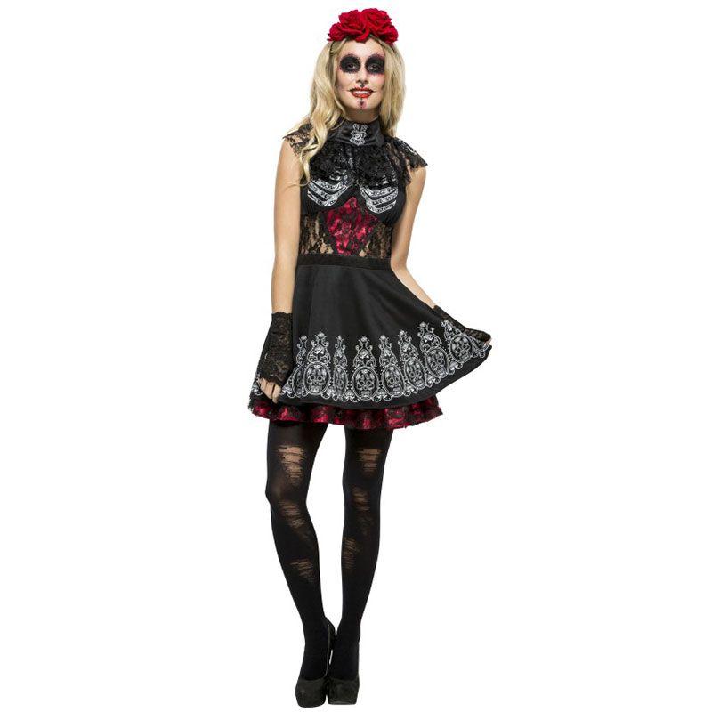 disfraz de día de los muertos para mujer fiestasmix