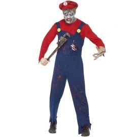 Disfraz de Fontanero Zombie para Hombre