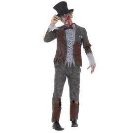 Disfraz de Novio Deluxe Zombie para Hombre