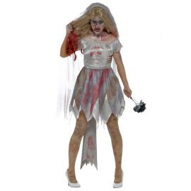 Disfraz de Novia Deluxe Zombie para Mujer