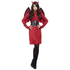 Disfraz de Diablo con Alas para Mujer