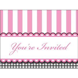 8 Invitaciones Sweet Baby Feet Pink