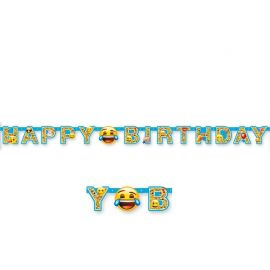 Guirnalda con Emoticonos Happy Birthday
