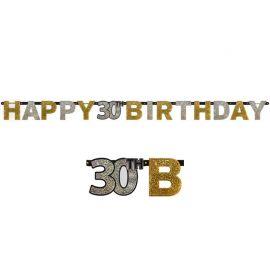 Guirnalda 30 años Happy Birthday Elegant