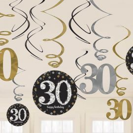 12 Colgantes 30 años Elegant