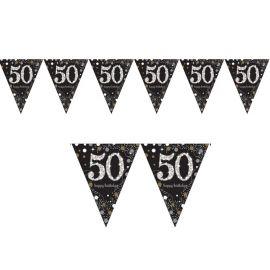 Banderines de cumpleaños 50 Elegant