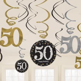 12 Colgantes 50 años Elegant