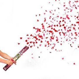 Cañon Confeti forma Petalos de Rosa 40 cm