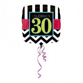 Globo Foil 30 años Chevron 43 cm