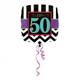 Globo Foil 50 años Chevron 43 cm