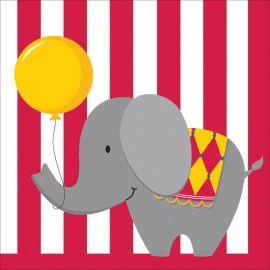 16 Servilletas Circus Time 33 cm