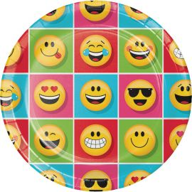 8 Platos Emoticonos 23 cm