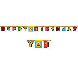 Guirnalda Emoticonos Happy Birthday 210 cm
